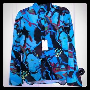 Robert Graham button down blouse unique design